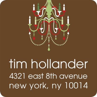 Holiday Chandelier Chocolate Label
