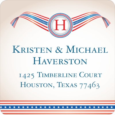 Patriotic Banner Label