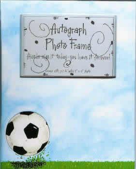 Soccer Autograph Photo Frame