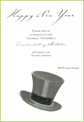 Top Hat with black glitter