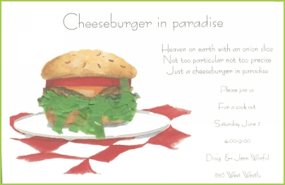 Cheeseburger with lettuce fringe