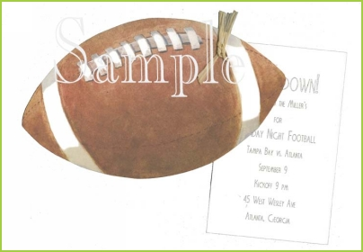 Football with raffia tag