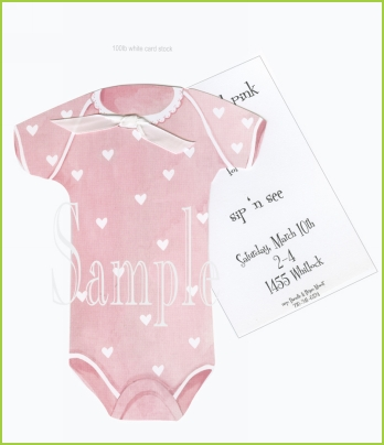 Pink Onesie w/white ribbon tag