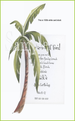 Palm Tree w/green raffia tag