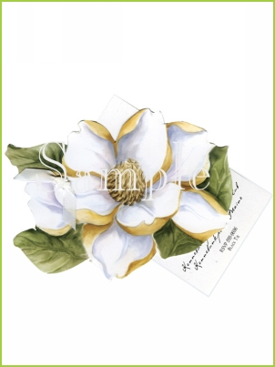 Magnolia with ribbon tag