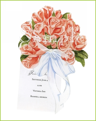 Rose Bouquet with white ribbon tag