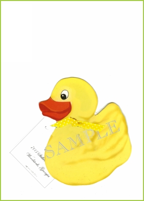 Rubber Ducky ribbon tag