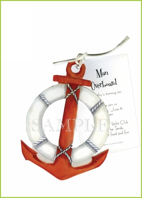 Nautical Anchor rope tag
