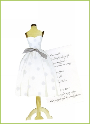 White on White Dress w/platinum ribbon tag