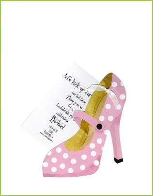 Pink and White Mary Jane's w/white ribbon tag