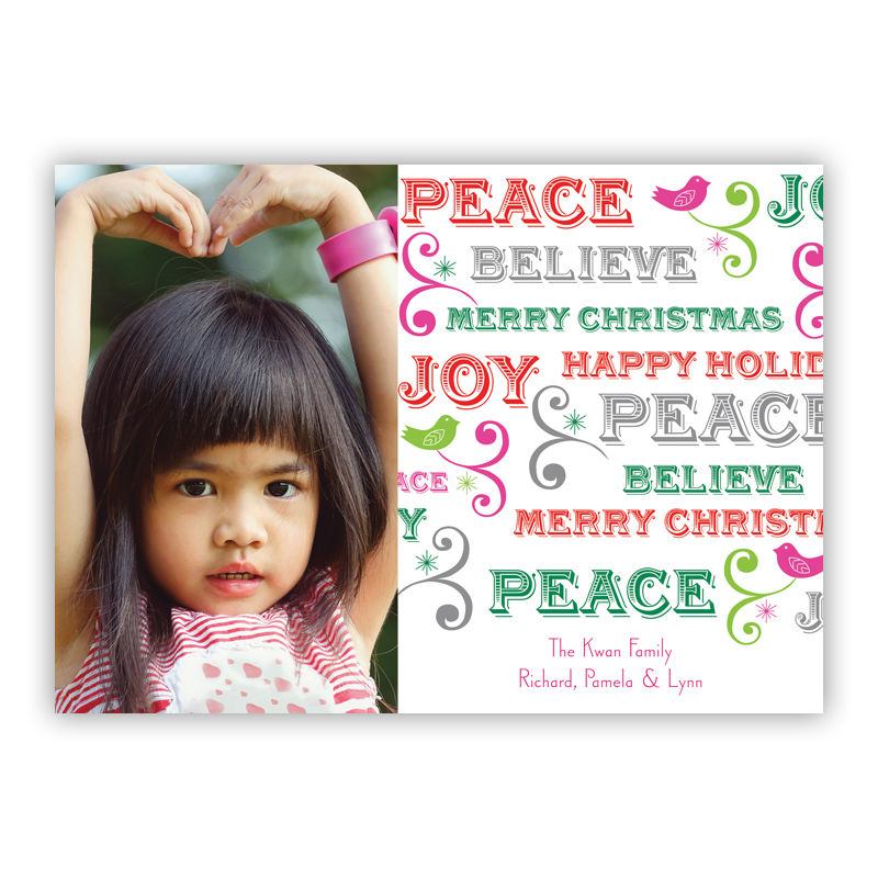 Peace Holiday Photocard