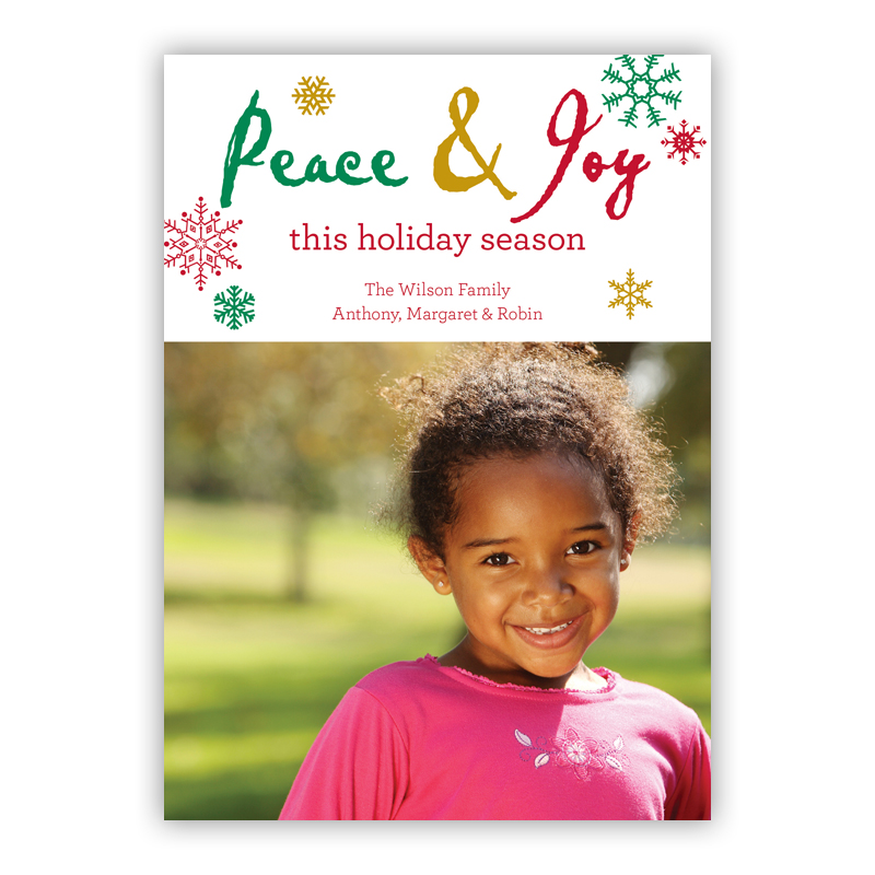 Peace Cut Out Holiday Photocard