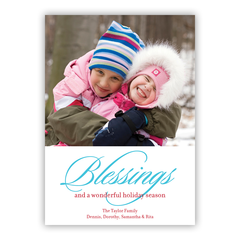Blessings Holiday Photocard