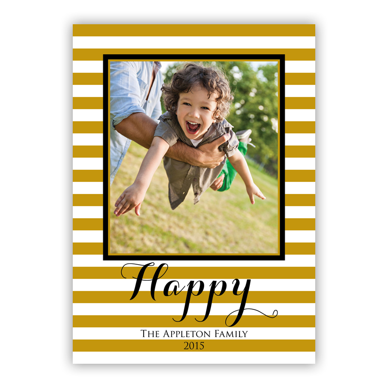 Just Happy Holiday Photocard