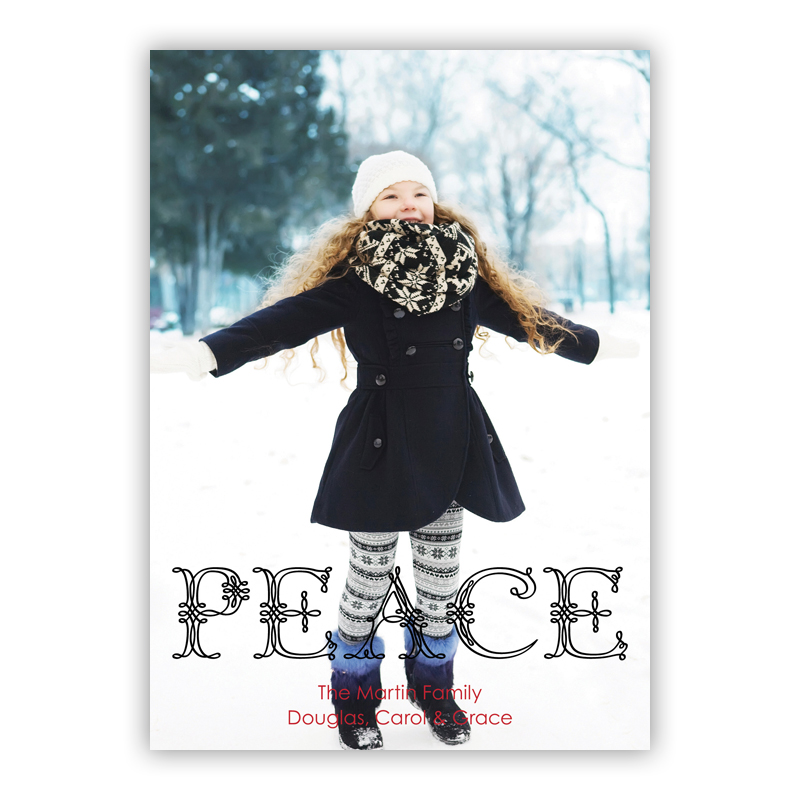 Fancy Peace Holiday Photocard