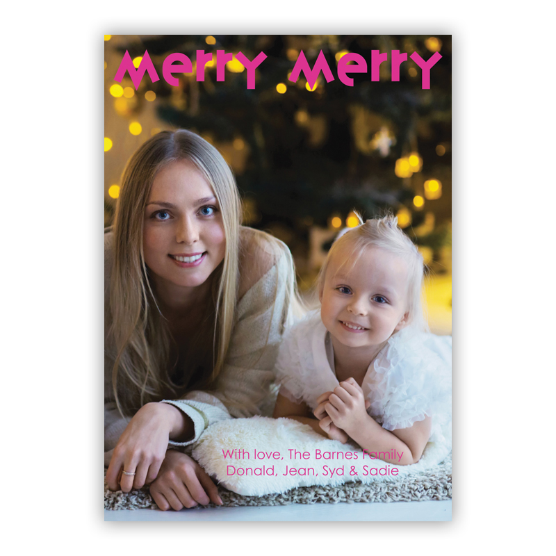 Merry Merry Holiday Photocard
