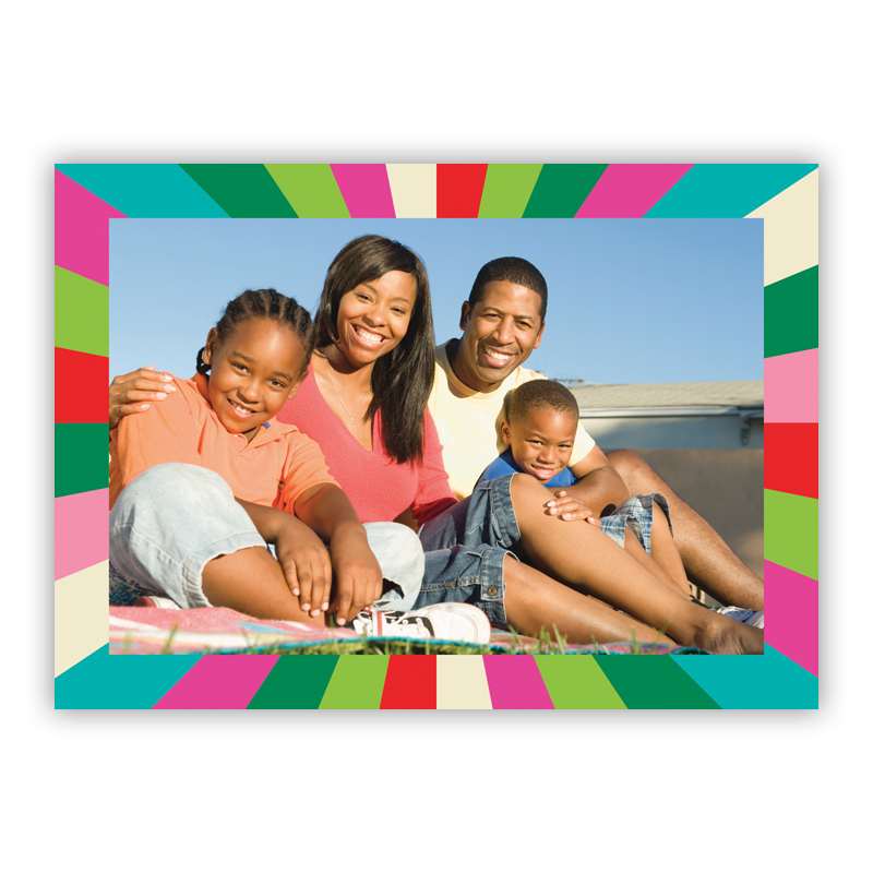 Bursty Frame Holiday Photocard