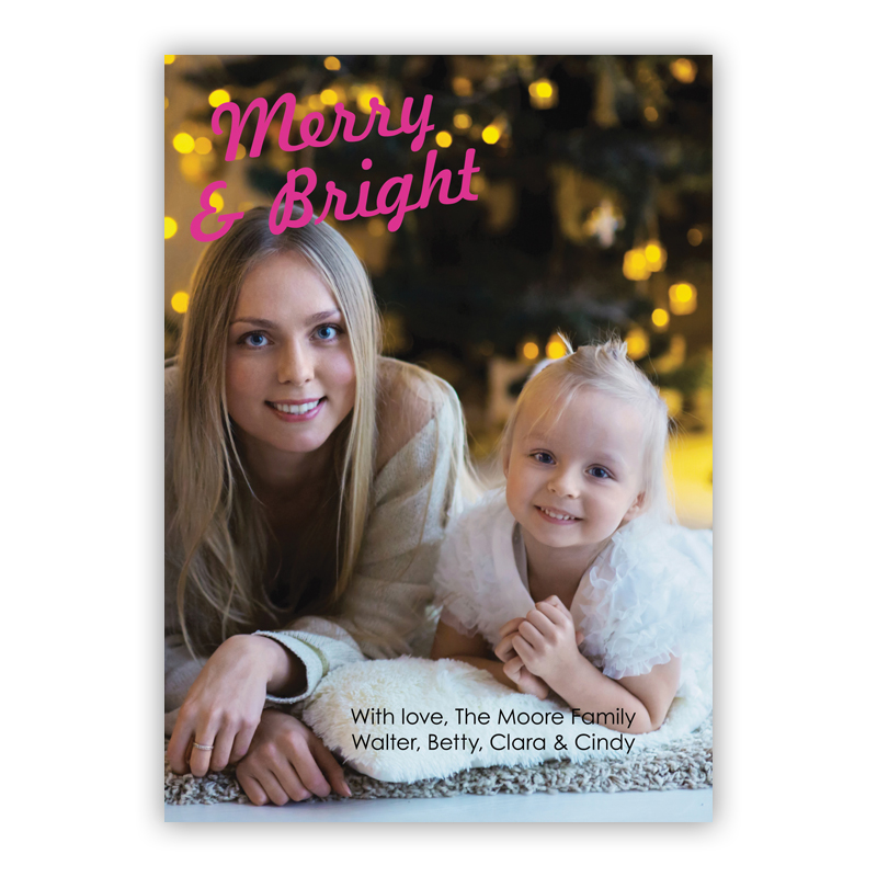Merry and Bright Holiday Photocard