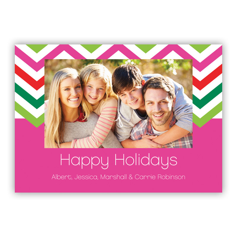 Chevron Elle Holiday Photocard