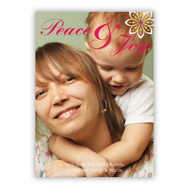 Peace and Joy Holiday Photocard