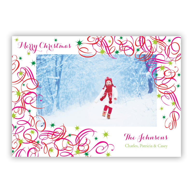 Swirls Holiday Photocard