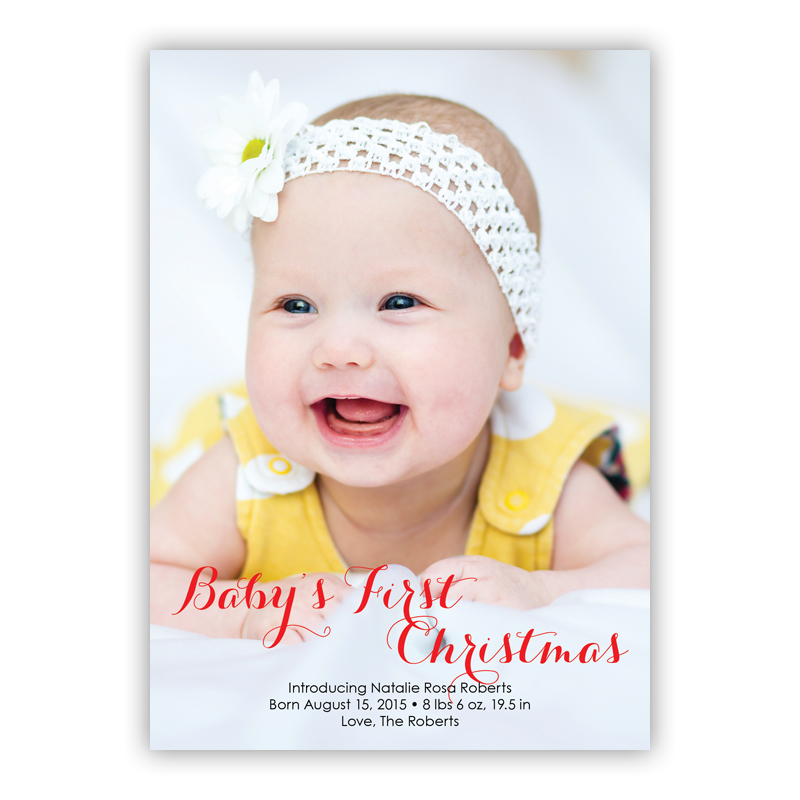 First Vertical Holiday Photocard