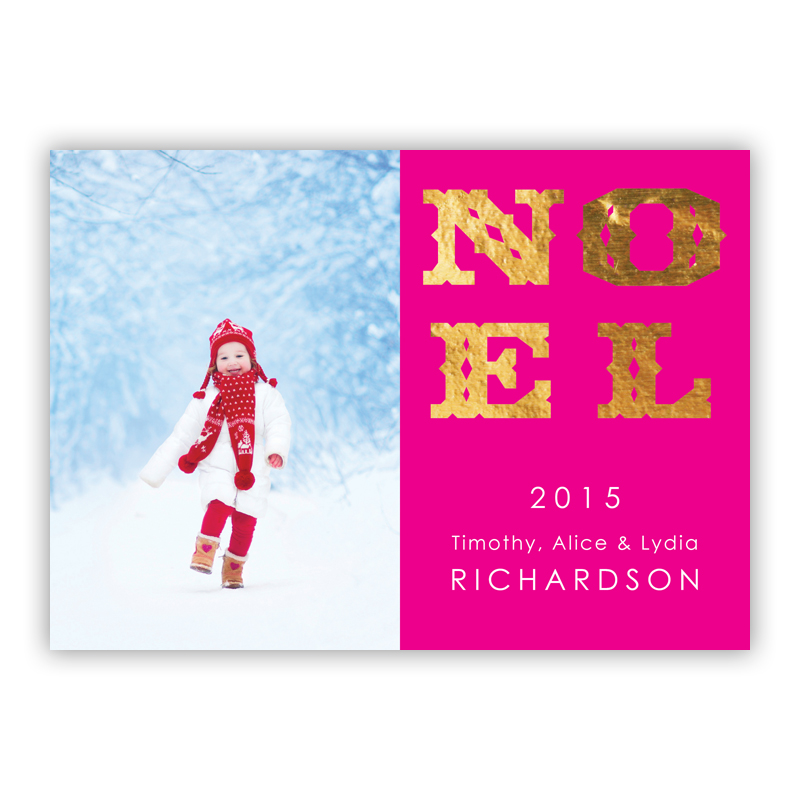 Noel Foil Holiday Photocard