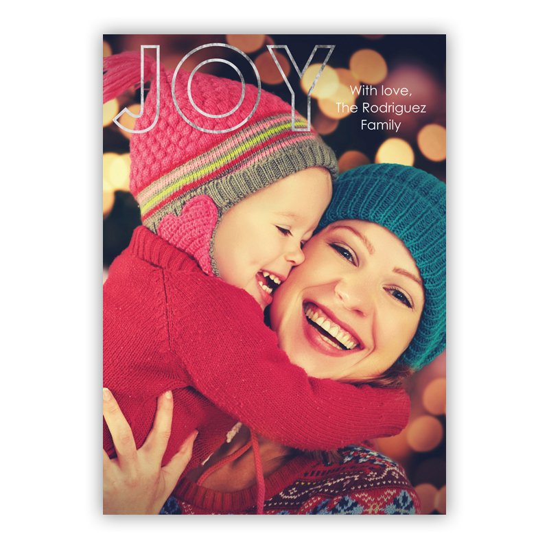 Joy Outlined Foil Holiday Photocard