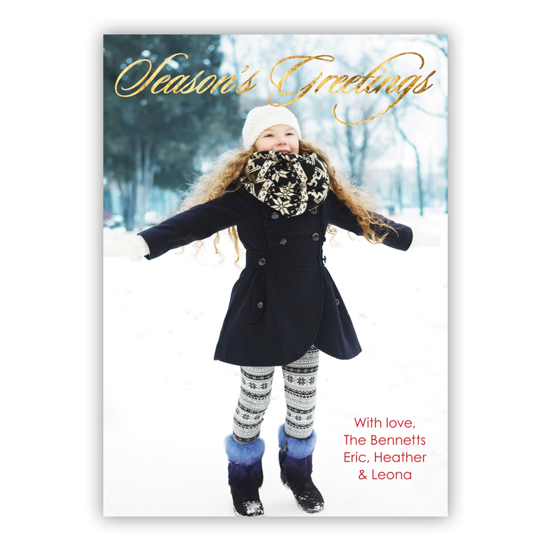 Season's Foil Holiday Photocard