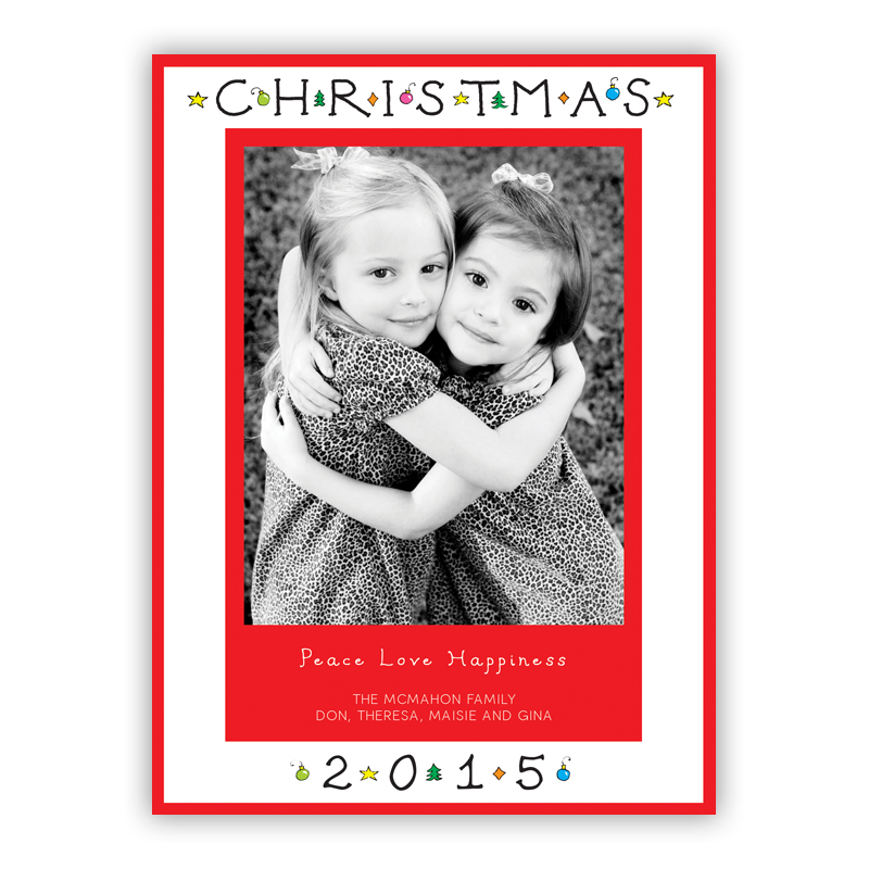 Classic Christmas Photo Holiday Greeting Card