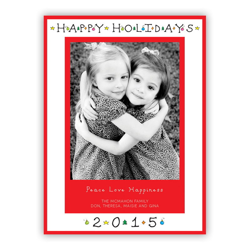Classic Happy Holidays Photo Holiday Greeting Card
