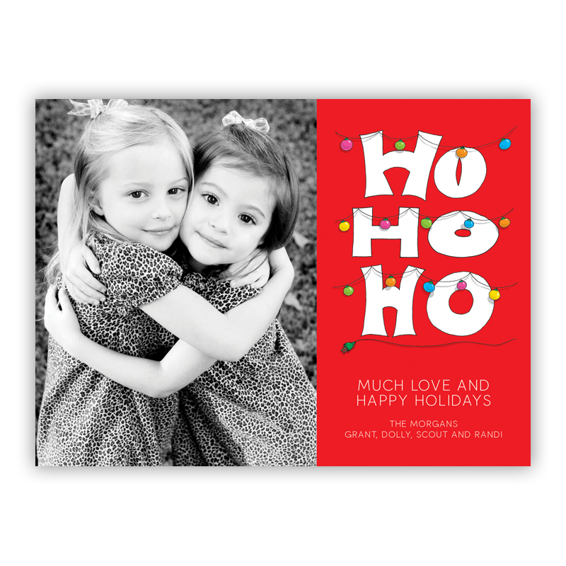 Ho Ho Ho Photo Holiday Greeting Card
