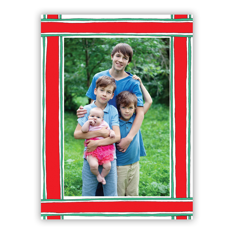 Ribbon Frame Photo Holiday Greeting Card