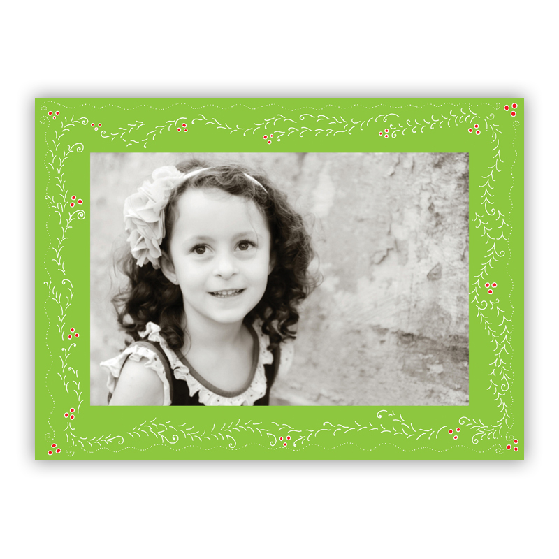Willow Lime Photo Holiday Greeting Card