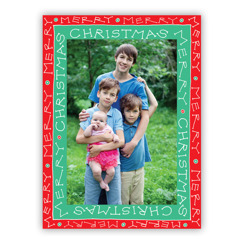 Christmas Frame Jade Photo Holiday Greeting Card