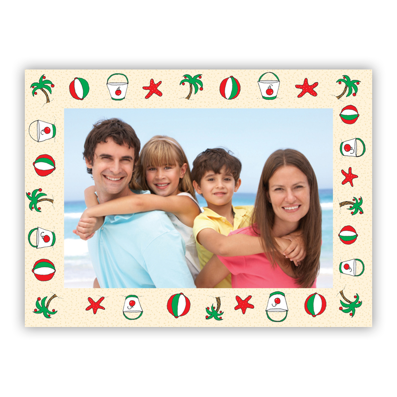 Beach Frame Photo Holiday Greeting Card