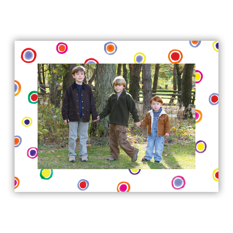 Dots  Photo Holiday Greeting Card