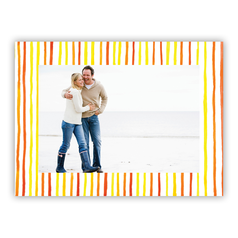 Summer Stripes  Photo Holiday Greeting Card