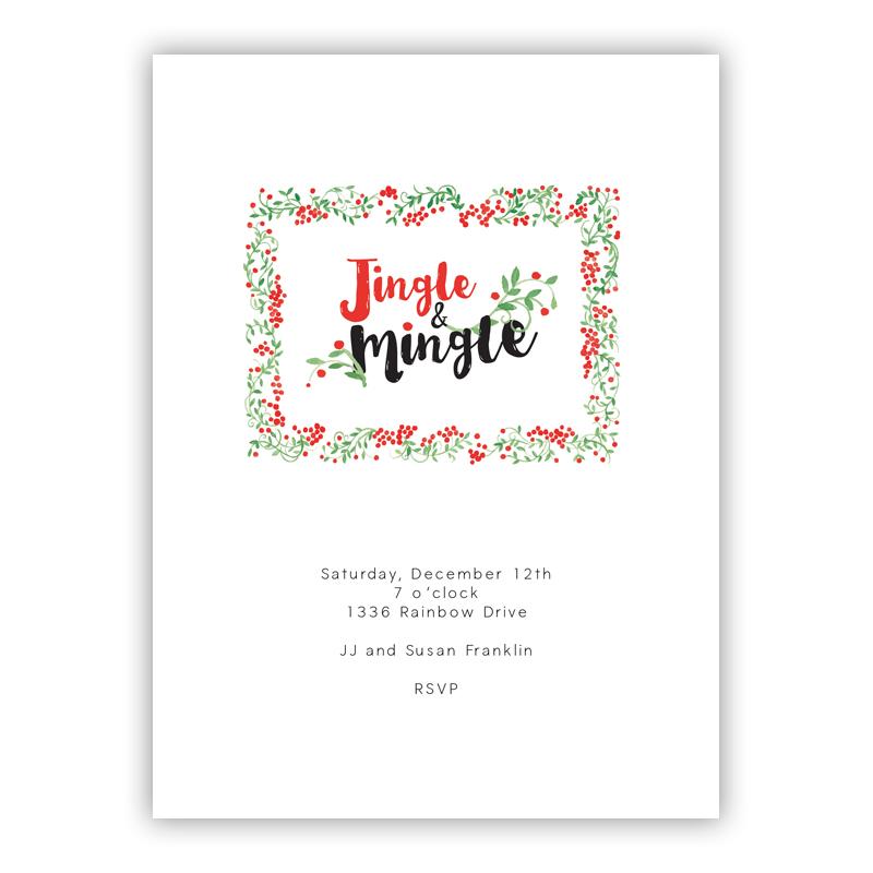 Jingle Holiday Party Invitations
