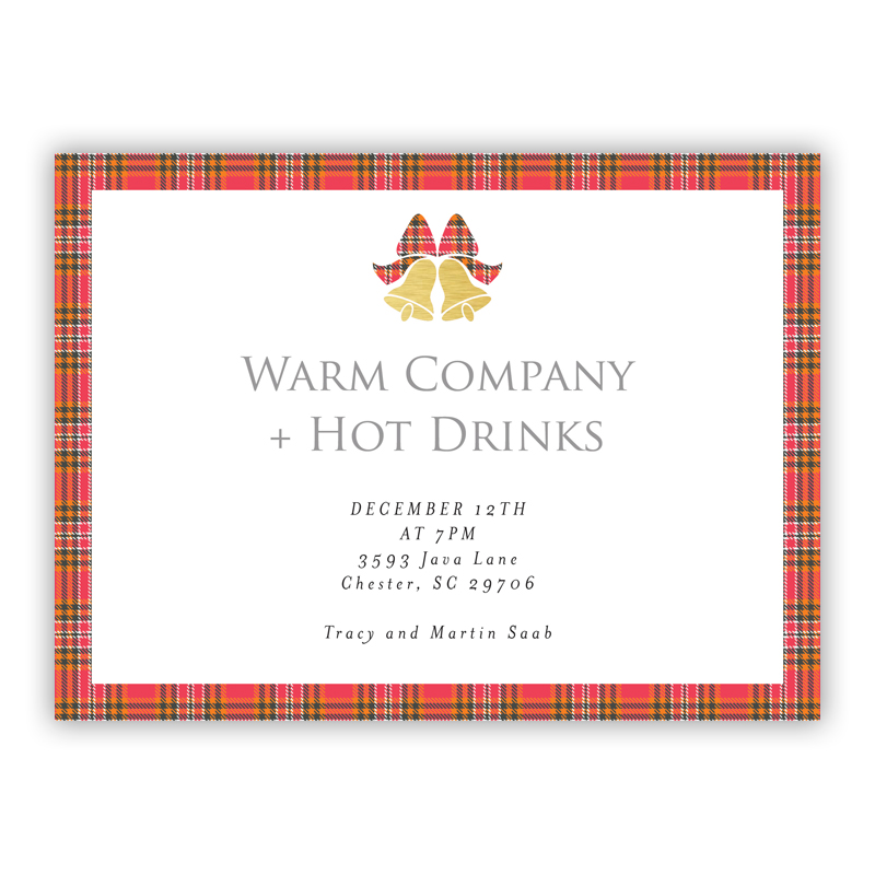 With Bells Holiday Party Invitations