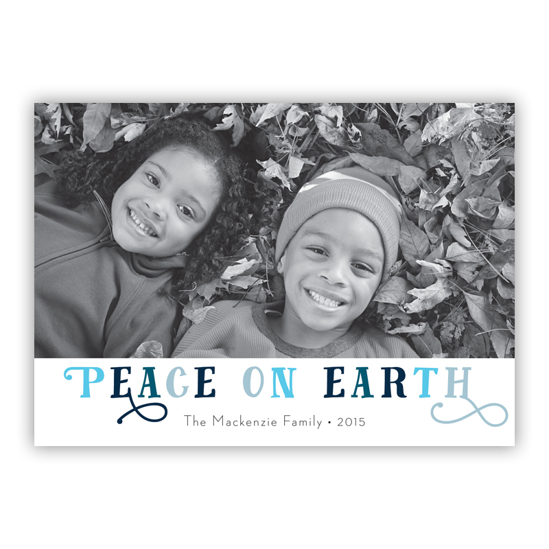Peace on Earth Riley Photo Holiday Greeting Card