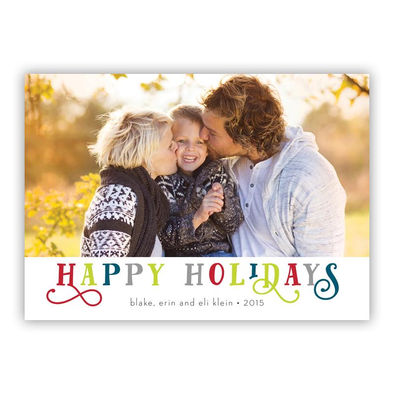 Happy Holidays Riley Photo Holiday Greeting Card
