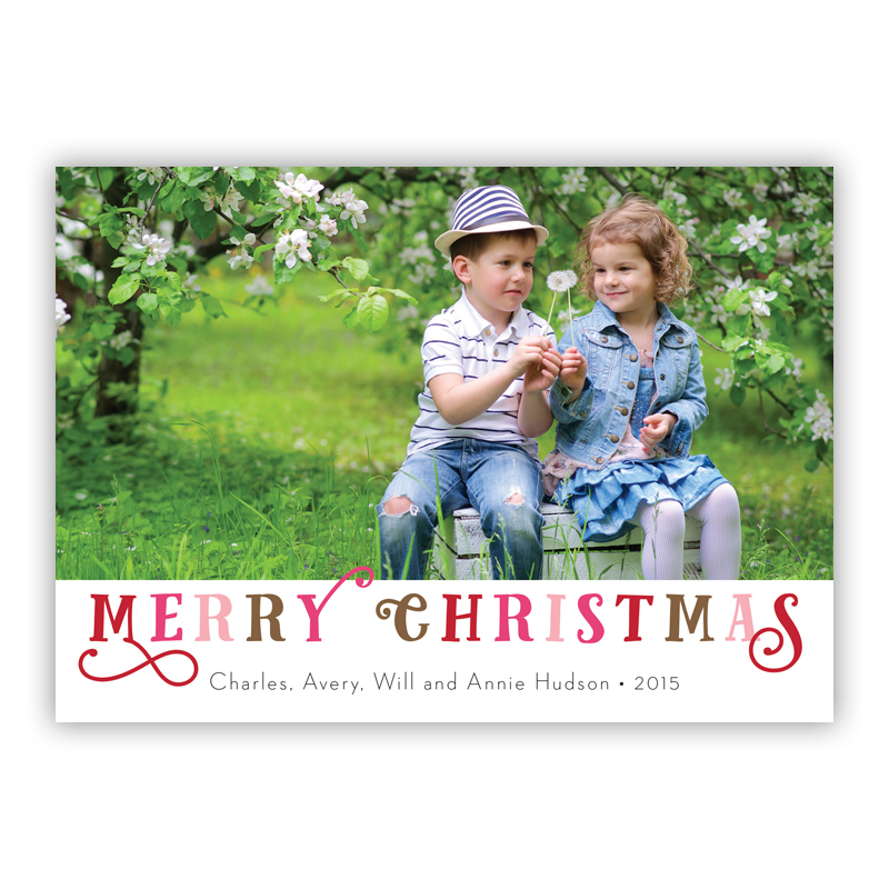 Riley Merry Christmas Photo Holiday Greeting Card