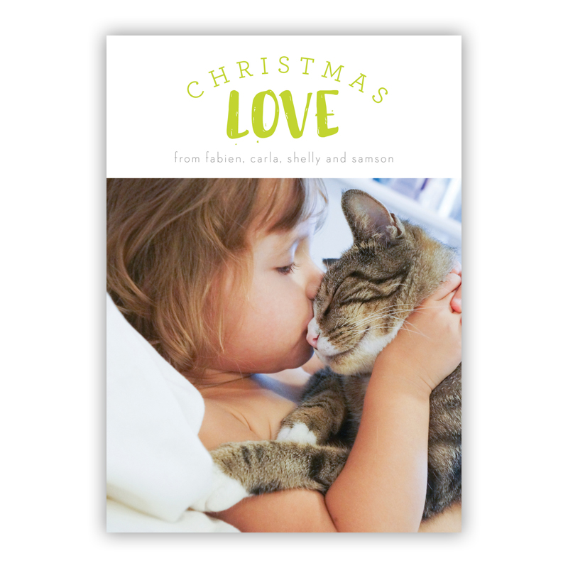 Peyton Christmas Love Lime Photo Holiday Greeting Card