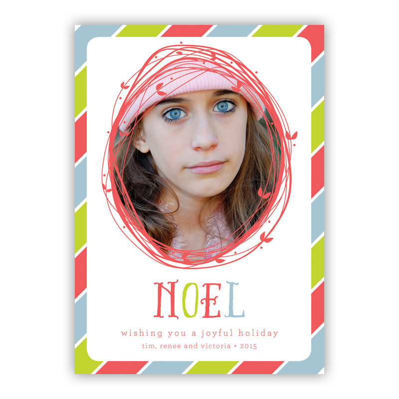 Noel Candy Multi Photo Holiday Greeting Card