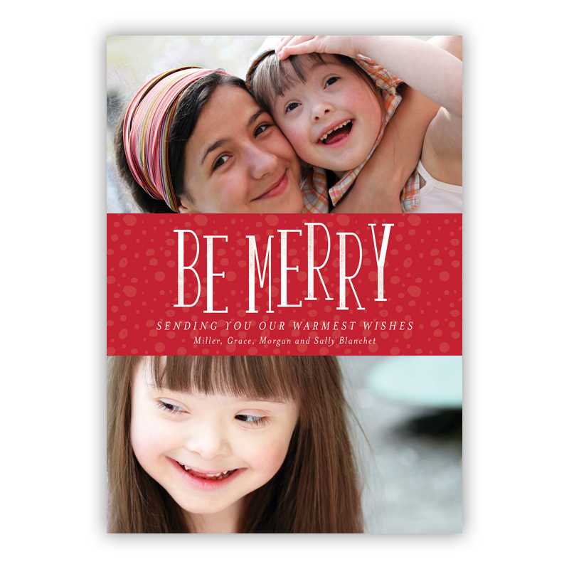 Be Merry Charlie Red Photo Holiday Greeting Card