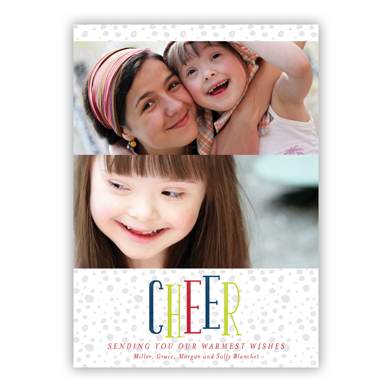 Cheer Thomas White Photo Holiday Greeting Card