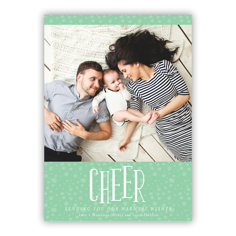 Cheer Thomas Mint Photo Holiday Greeting Card