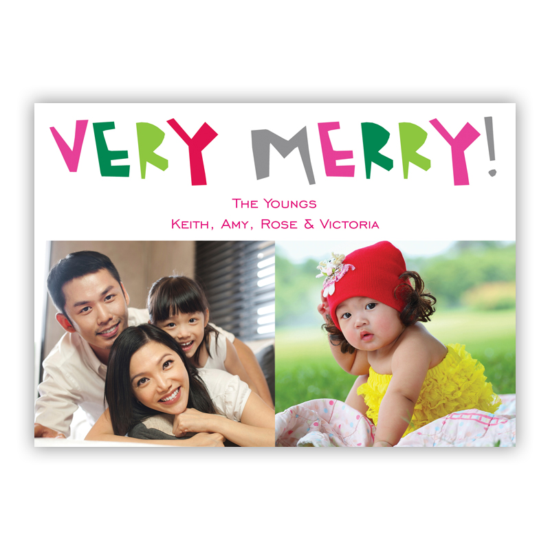 Very Merry Holiday Photocard