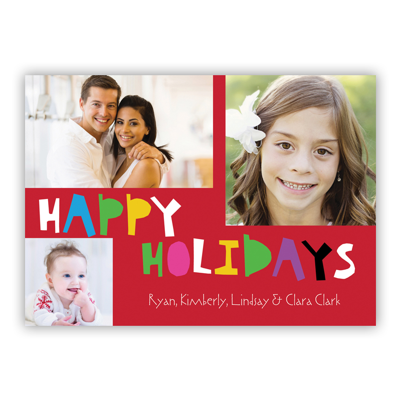 Happy Holidays Holiday Photocard